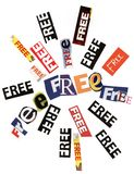 Free Word Collage Texture Royalty Free Stock Image