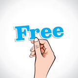 Free word in hand Stock Photos