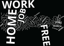Free Work At Home Word Cloud Concept Stock Photo