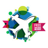 Free worldwide delivery icon. Stock Image