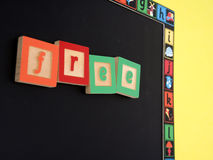 FREE writtin on chalk board Royalty Free Stock Photos