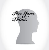 Free your mind concept illustration design Stock Photos