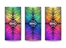 Free your mind. Creative motivation. Ð¡heerful bright flyer with fantasy pattern. Vector template stock illustration