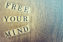 Free Your Mind message Royalty Free Stock Photo