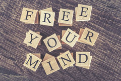 Free Your Mind message Stock Images