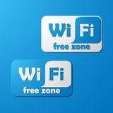 Free Zone wi-fi, sticker Royalty Free Stock Photography