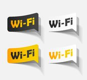 Free Zone wi-fi, sticker Stock Images