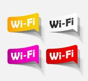 Free Zone wi-fi, sticker Royalty Free Stock Photos