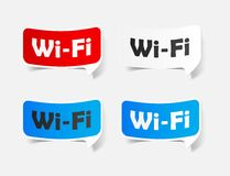 Free Zone wi-fi, sticker Stock Photography