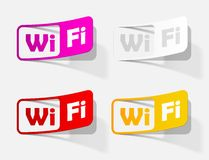 Free Zone wi-fi, sticker Royalty Free Stock Image