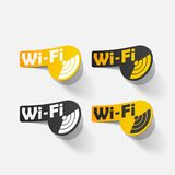Free Zone wi-fi, sticker Stock Image