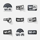 Free Zone wi-fi, sticker. This is file of EPS10 format Royalty Free Stock Photo