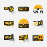 Free Zone wi-fi, sticker Royalty Free Stock Images