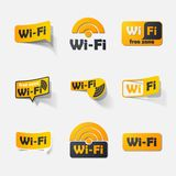 Free Zone wi-fi, sticker Stock Photo