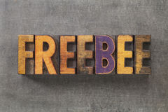 Freebee word Stock Photo
