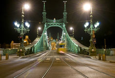 The Freedem bridge in Budapest Stock Photos