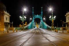 The Freedem bridge in Budapest Stock Image