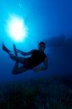 Freediver Royaltyfria Bilder