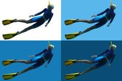 Freediver Arkivfoton