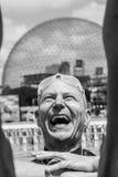 Freediver heureux hors de l'eau après son résultat de représentation Images stock