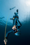 Freediver in the sea Royalty Free Stock Images