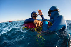 Freedivers arkivbilder