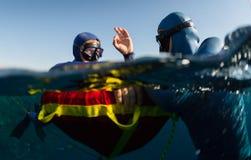 Freedivers Stock Images