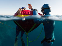 Freedivers Royalty Free Stock Photo