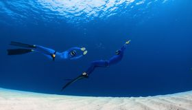 Freedivers Royalty Free Stock Images