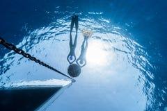 Freediving fotografia stock