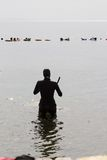 Freediving au trou bleu, Dahab, Egypte Photographie stock