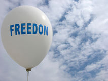 Freedom. White Balloon Representing Freedom Royalty Free Stock Image