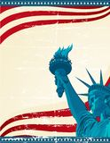 Freedom. A grunge poster with the statue of liberty Royalty Free Stock Images