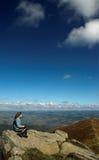 Freedom. High in Transcarpathian mountains, day, autumn Royalty Free Stock Photos