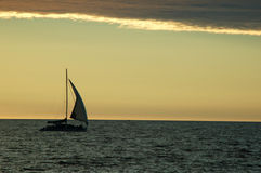 Freedom. A sail boat in Gulf St. Vincent, Adelaide, South Australia stock photography