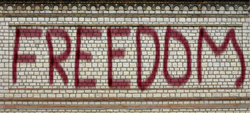 Freedom. Written on the wall Royalty Free Stock Images