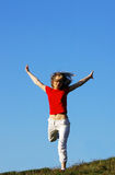 Freedom. Moment of happiness Stock Photo