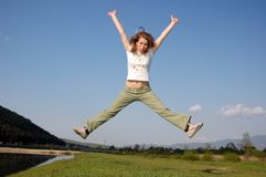 Freedom. Photo of a woman...freefom Stock Photography