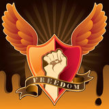 Freedom background with fist. Vector illustration Stock Image