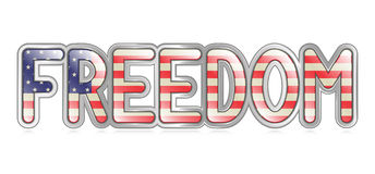 Freedom Banner Royalty Free Stock Photography