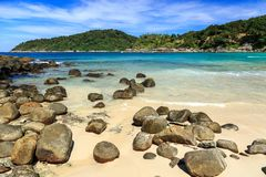 Freedom beach, Phuket, Thailand. Gorgeous Freedom Beach at morning, Phuket, Thailand Royalty Free Stock Photos