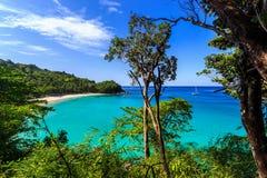 Freedom beach, Phuket, Thailand. Gorgeous Freedom Beach at morning Taken from high point, Phuket, Thailand Stock Image
