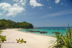 Freedom beach in Phuket Thailand stock photography