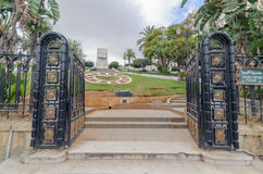 Freedom Boulevard monument in jardin horloge florale park in Algiers Algeria Royalty Free Stock Photography