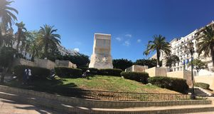 Freedom Boulevard monument in jardin horloge florale park in Algiers Algeria Royalty Free Stock Photo