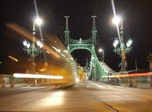 Freedom Bridge. At night, Budapest, (Hungary Royalty Free Stock Images