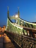 Freedom Bridge. At night, Budapest (Hungary Stock Photo