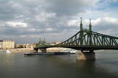 Freedom Bridge. In Budapest, Hungary Stock Images