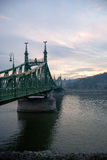 Freedom Bridge. Across the Danube River, budapest, hungary Royalty Free Stock Image
