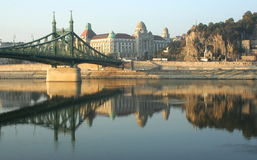 Freedom Bridge, Budapest. Freedom Bridge in Budapest, Hungary stock photo